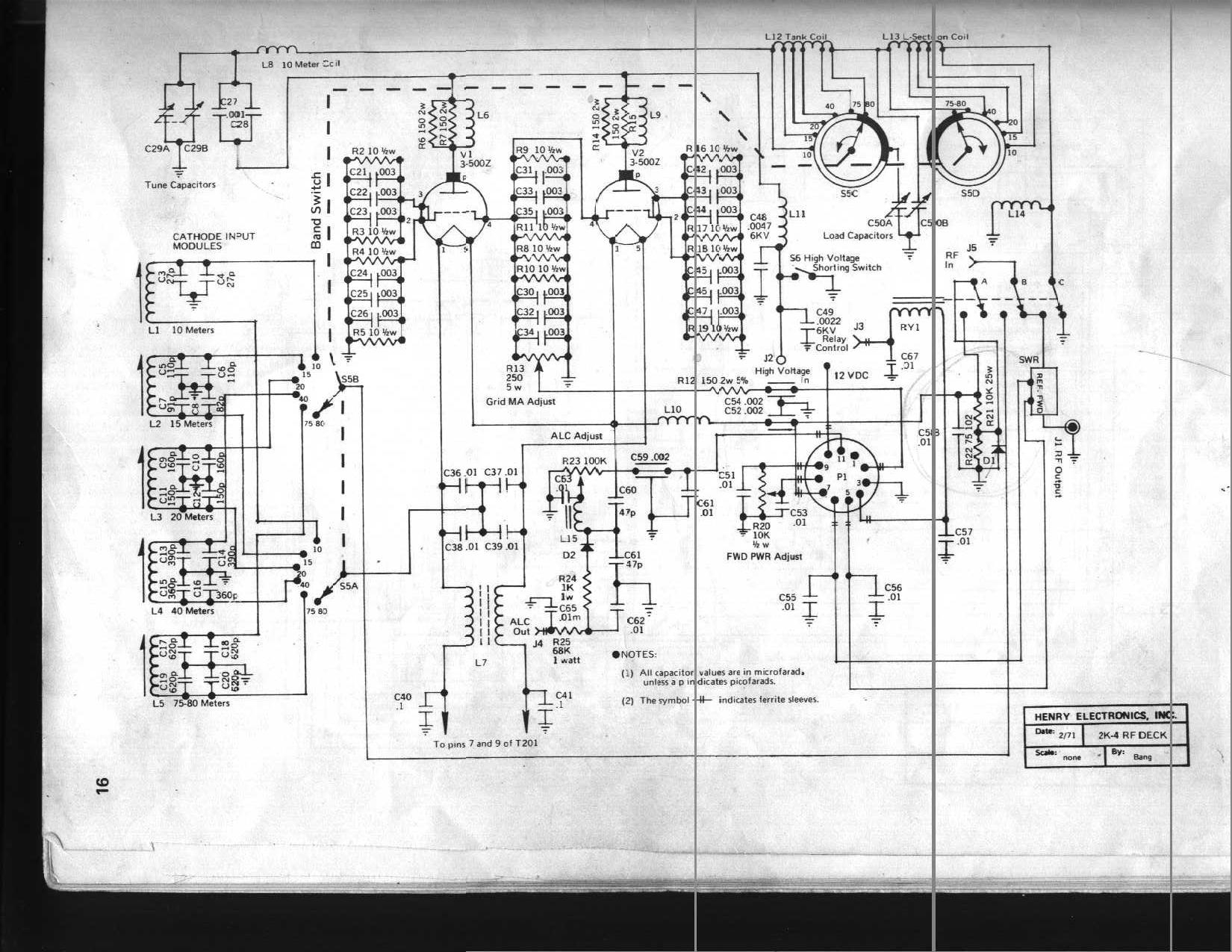 Henry 2K 4 w4clm henry 2k amplifier overhaul henry switch wiring diagram at eliteediting.co